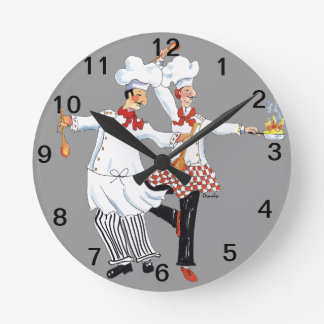 Chefs- wall clock