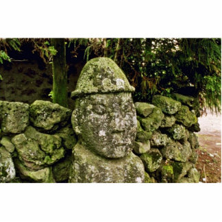 Cheju-Do - Tolharubang (grandfather Image) Standing Photo Sculpture