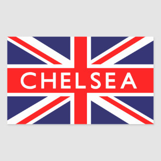 Chelsea : British Flag Rectangular Sticker