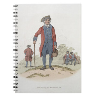 Chelsea Pensioner, from 'Costume of Great Britain' Spiral Notebook