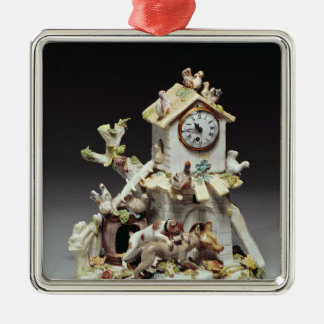 Chelsea porcelain farmyard clock case christmas ornament