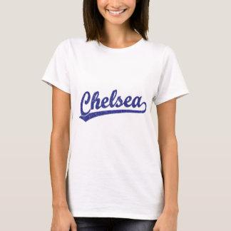 Chelsea script logo in blue T-Shirt