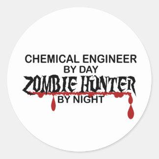 Chem Eng Zombie Hunter Round Sticker