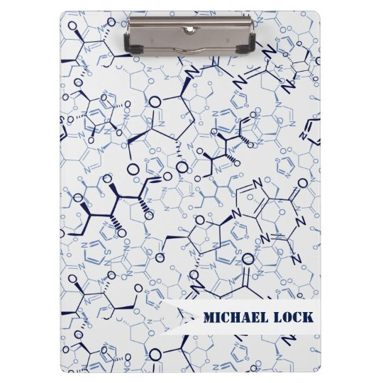 Chemical Chemistry Chemist Personalised Clipboard