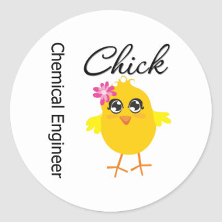Chemical Engineer Chick Stickers