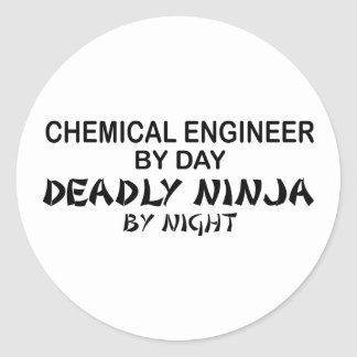 Chemical Engineer Deadly Ninja by Night Sticker