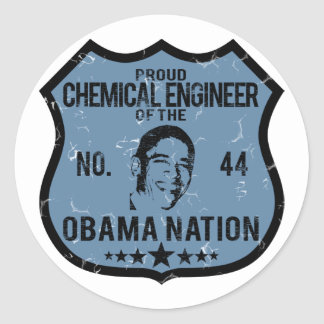 Chemical Engineer Obama Nation Round Sticker