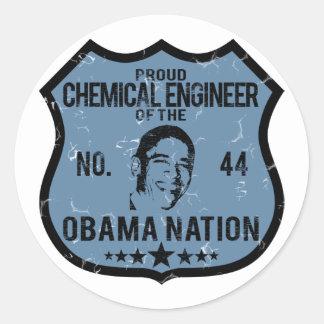 Chemical Engineer Obama Nation Round Sticker