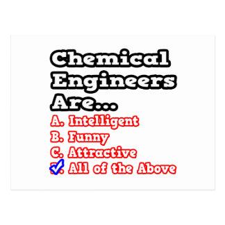 Chemical Engineer Quiz Joke Post Card