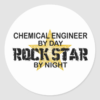 Chemical Engineer Rock Star Round Sticker