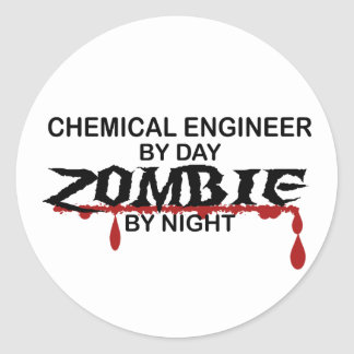 Chemical Engineer Zombie Round Sticker