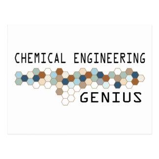 Chemical Engineering Genius Postcard