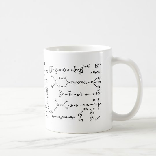Chemical formula coffee mug