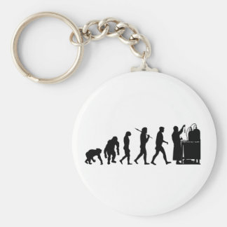 Chemical formula researchers Chemistry Gifts Basic Round Button Key Ring