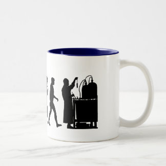 Chemical formula researchers Chemistry Gifts Two-Tone Mug