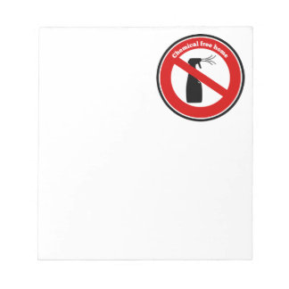 Chemical free home memo note pad