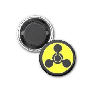 Chemical Hazard 3 Cm Round Magnet