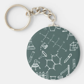 Chemical lab equipment scribbles key ring