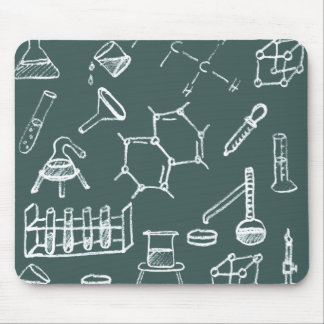 Chemical lab equipment scribbles mouse mat