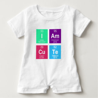 Chemical periodic table of elements: IAmCuTe Baby Bodysuit
