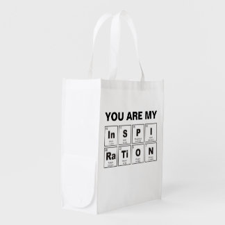 Chemical periodic table of elements: InSPIRaTiON Reusable Grocery Bag