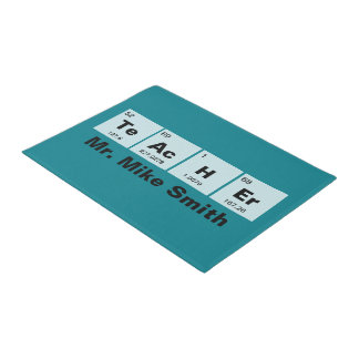 Chemical periodic table of elements: TeAcHEr Doormat