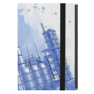 Chemical plant & watercolor background iPad mini cover