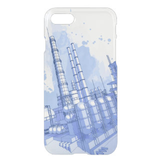 Chemical plant & watercolor background iPhone 8/7 case