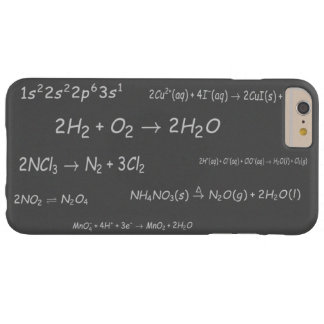 Chemical Reactions on Blackboard Barely There iPhone 6 Plus Case