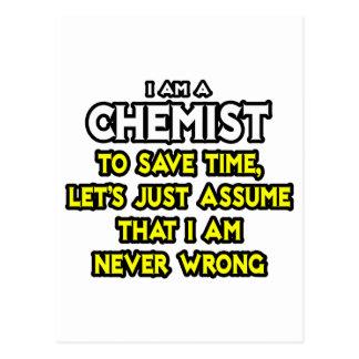 Chemist Assume I Am Never Wrong Postcards