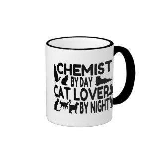 Chemist Cat Lover Ringer Mug