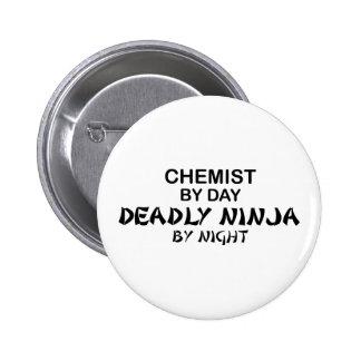 Chemist Deadly Ninja by Night Pinback Button