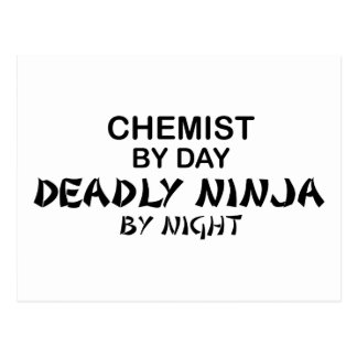 Chemist Deadly Ninja by Night Postcard
