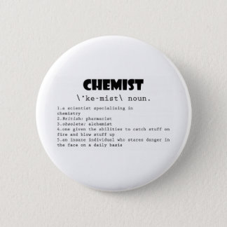 Chemist Definition 6 Cm Round Badge