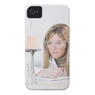 Chemist looking at Bunsen burner Case-Mate iPhone 4 Case