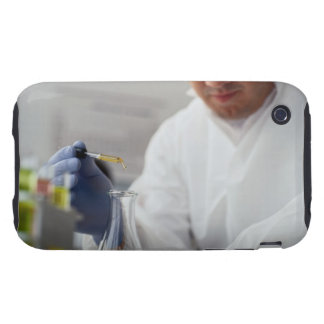 Chemist Measuring Drops into a Flask Tough iPhone 3 Covers