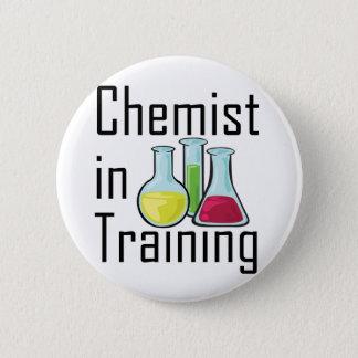 Chemist student chemistry kid 6 cm round badge