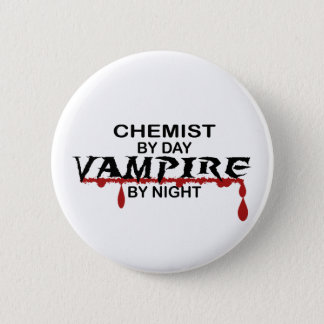 Chemist Vampire by Night 6 Cm Round Badge
