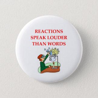 chemistry 6 cm round badge