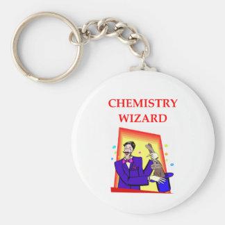 chemistry basic round button key ring