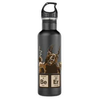 chemistry bear discovered beer 710 ml water bottle