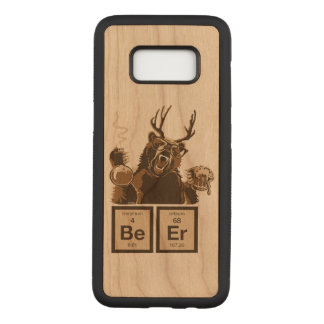 Chemistry bear discovered beer carved samsung galaxy s8 case