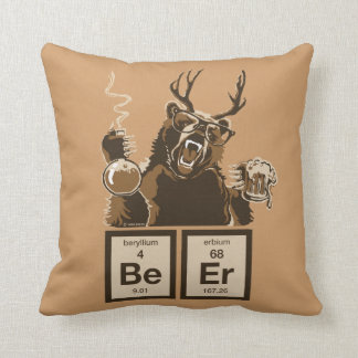 Chemistry bear discovered beer cushion