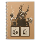 Chemistry bear discovered beer notebook