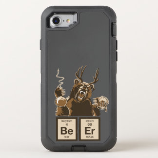 Chemistry bear discovered beer OtterBox defender iPhone 8/7 case