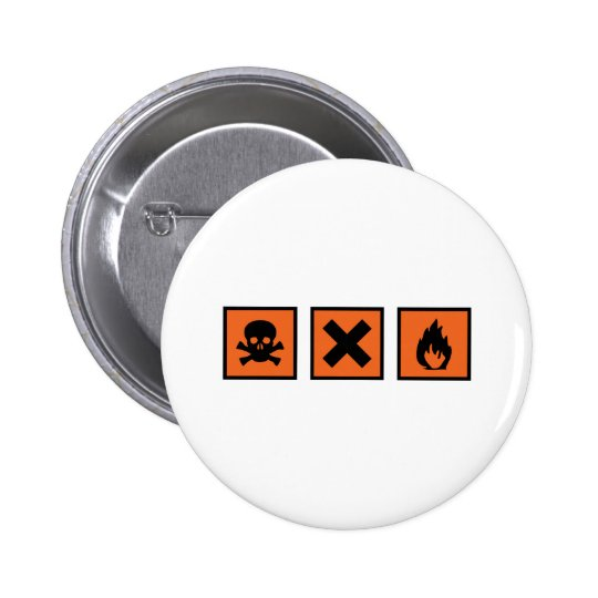 chemistry chemist signs 6 cm round badge