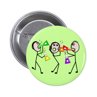Chemistry/Chemists Stick People Gifts 6 Cm Round Badge