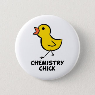 Chemistry Chick 6 Cm Round Badge