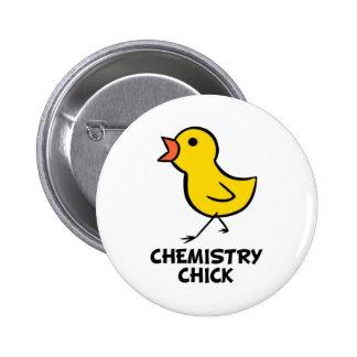 Chemistry Chick 6 Cm Round Badge