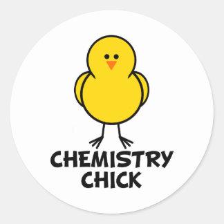 Chemistry Chick Round Sticker